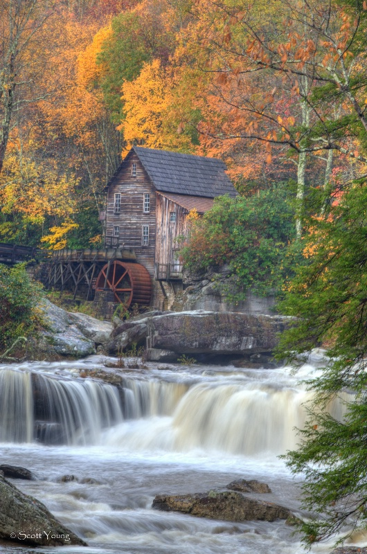 Grist Mill; Babcock State Park; Denise, W. Va - ID: 12377807 © Richard S. Young