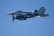 Heritage Flight - Corsair and F-18 Super Hornet