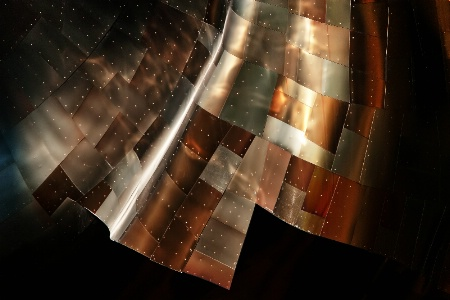 Metal quilt in space
