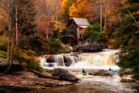 Kayaking at the Glade Creek Grist Mill