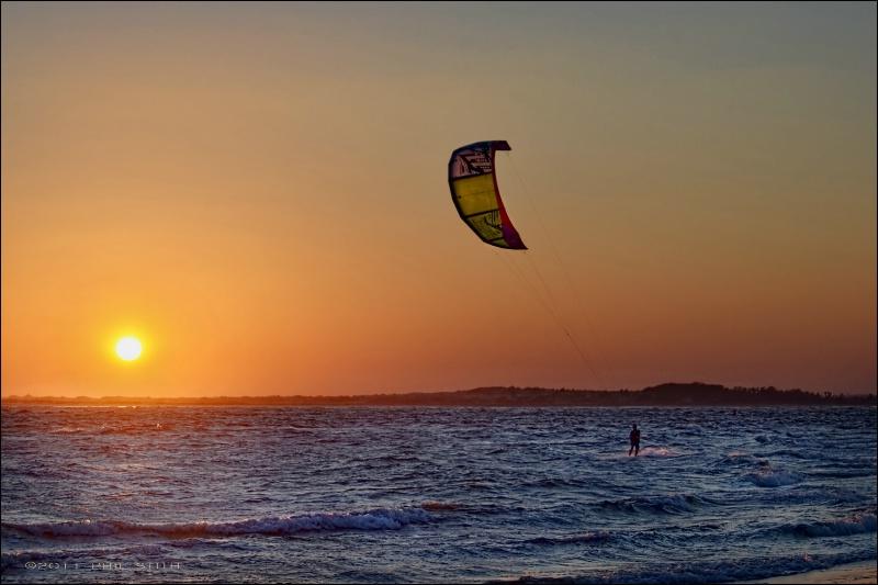 Sunset Kite Surfer