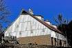 old white barn fr...