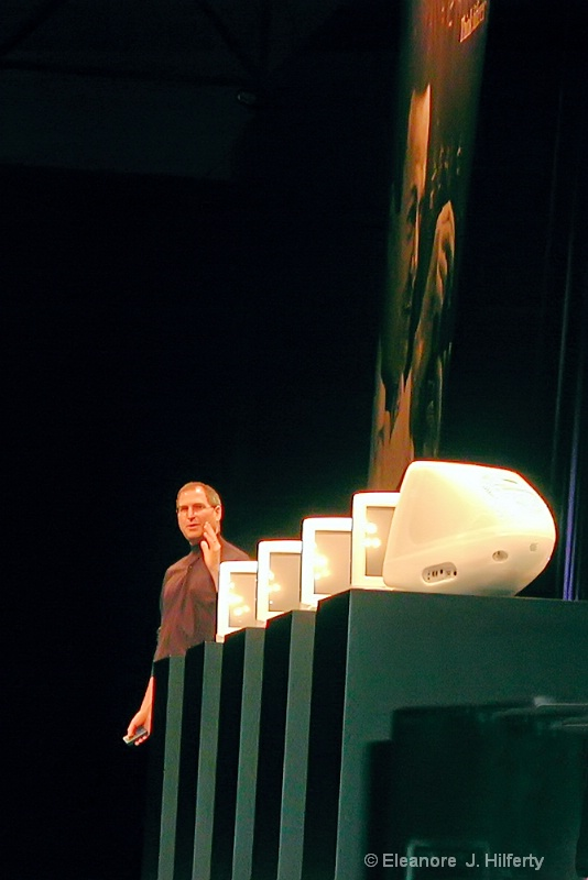 Steve with his fleet of 5 different colored iMacs - ID: 12508074 © Eleanore J. Hilferty