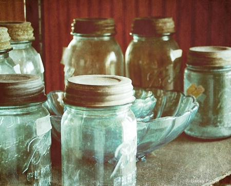 Old Blue Jars
