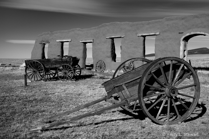Fort Union Wagons - ID: 12552821 © Kerry L. Stewart
