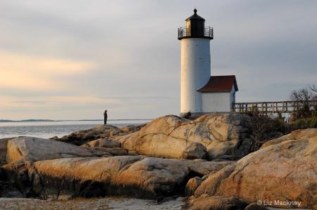 Sunset Solitude At Annisquam Lighthouse