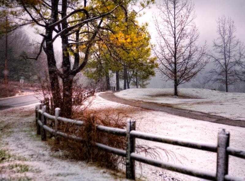 Arkansas's First Snow of the Season