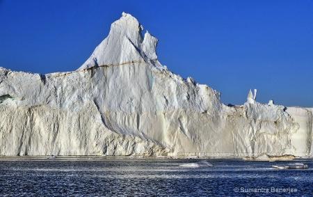 massive icebergs at disko bay  greenland