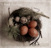 3 french hen eggs