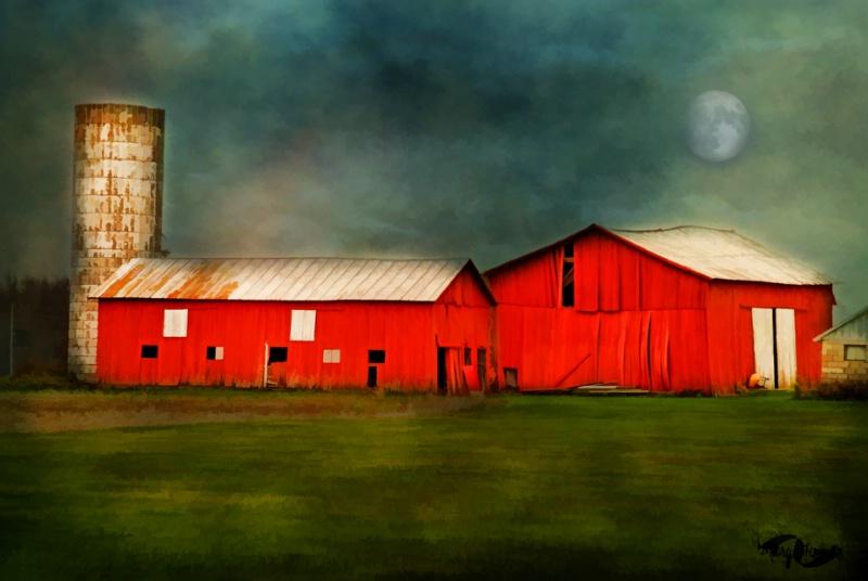 Stormy Night on the Farm