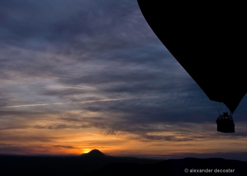 sunrise from a balloon