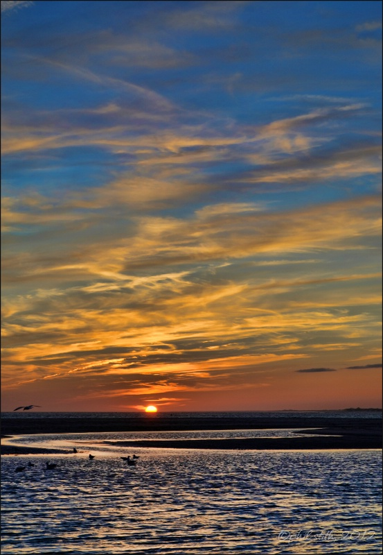 Bogue Inlet Sunset 01-01-12