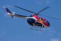 """""""Malibu"""" Chuck Aaron in the Red Bull Helicopter"""
