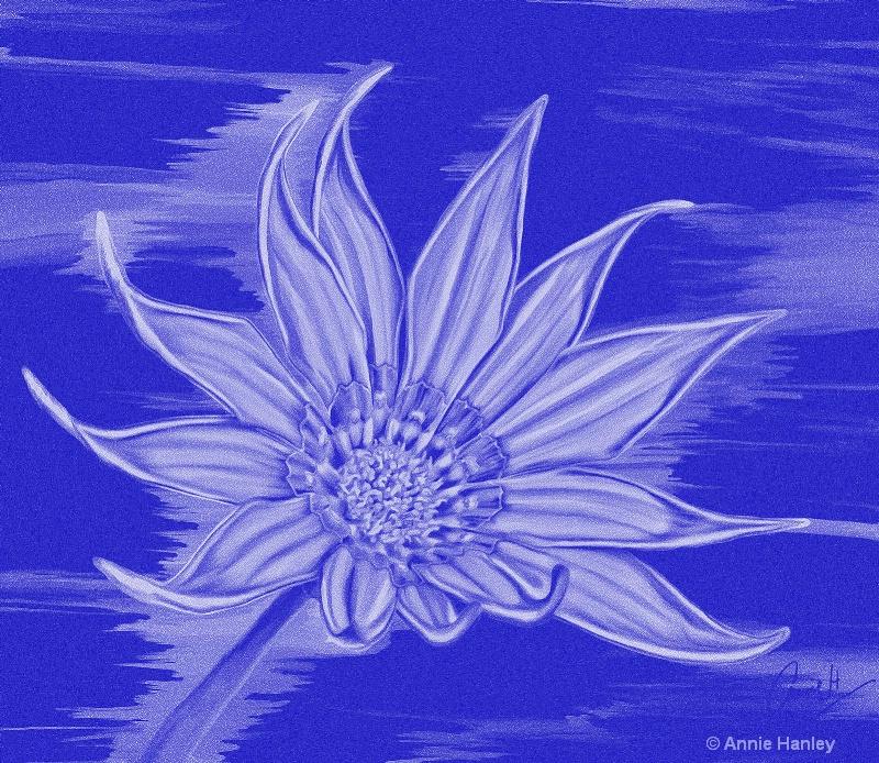 bp 1049 blue on blue daisy copy - ID: 12667603 © Ana Hanley