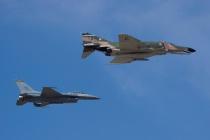 Heritage Flight - F-4 Phantom II and F-16 Falcon