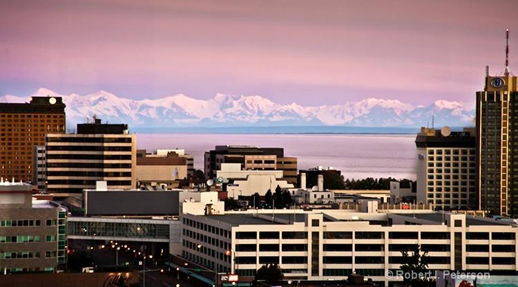 Anchorage skyline - ID: 12676667 © Bob l. Peterson