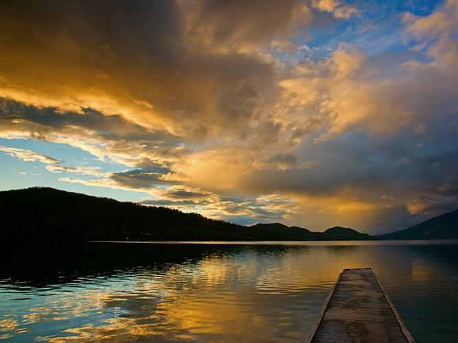whitefish lake sunset - ID: 12690597 © Eric Reese