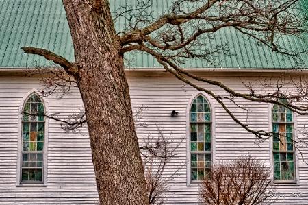 Cemetery Chapel Windows