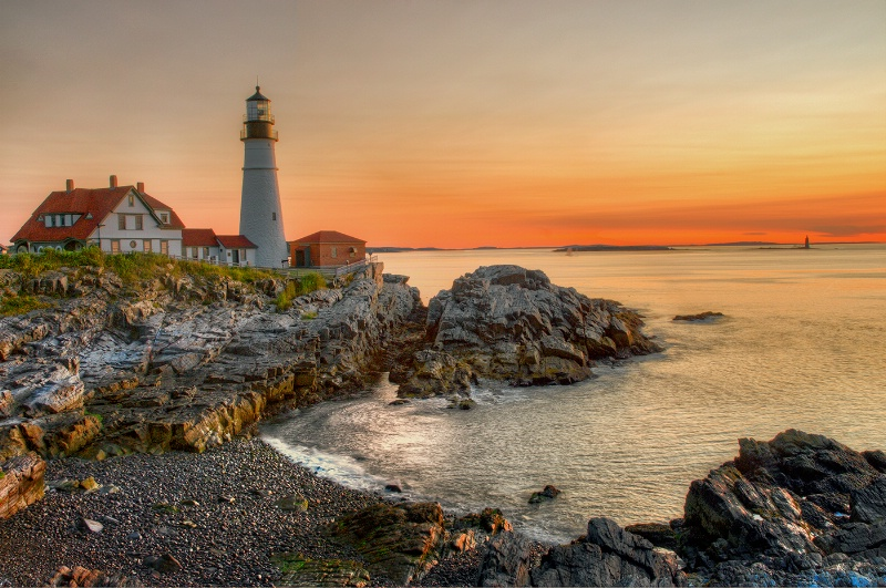Dawn, Portland Headlight