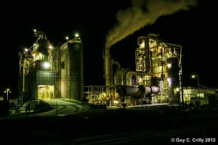 Quincy Industry at Night