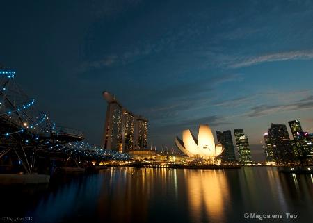 Singapore Skyline at Twilight