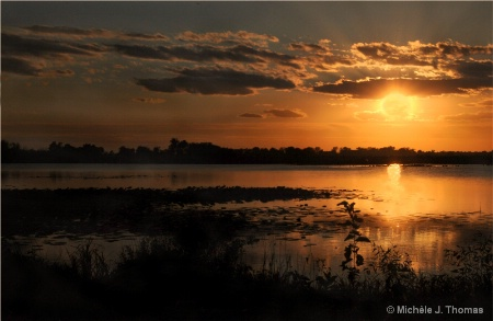 Sunset Over Squaw Creek Wetlands Missouri !