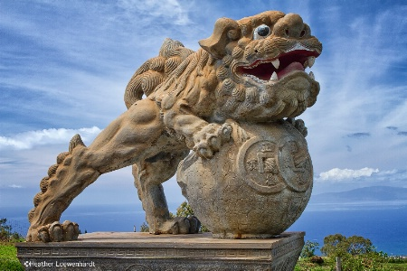Stone Lion in Sun Yat Sen Memorial Park