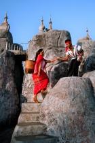 Ethnic Couple on landmark place