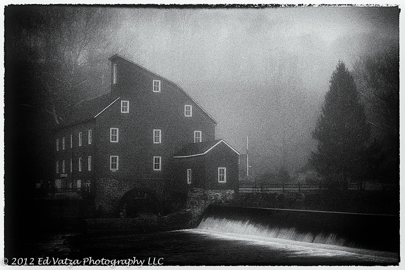 Red Mill on a Foggy Morn V.2