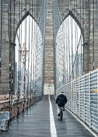 Brooklyn Bridge Bicyclist
