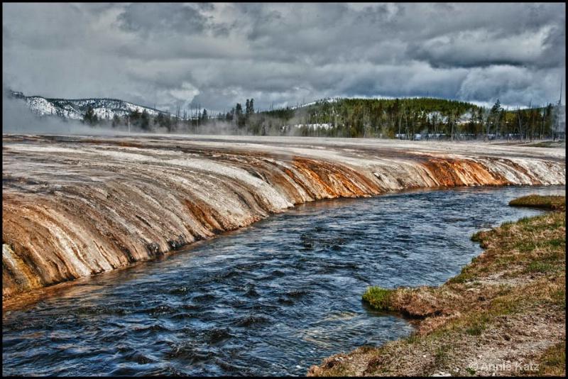 yellowstone thermal runoff - ID: 12862824 © Annie Katz