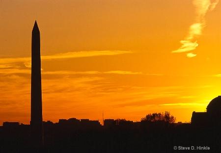 A Washington Memorial Sunset