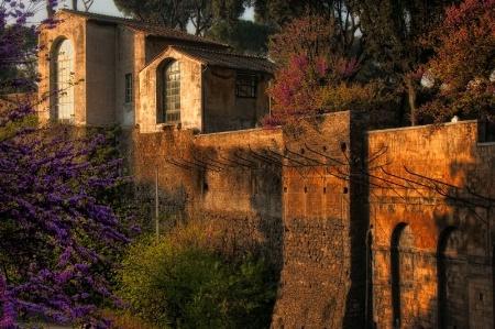 Roman Walls in Spring