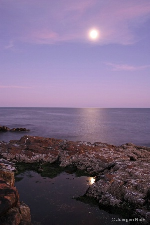 Moonrise in Acadia National Park