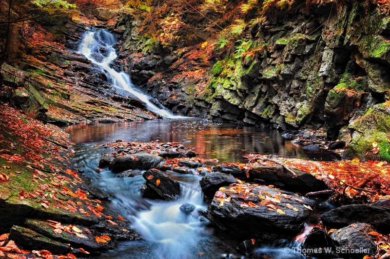 """Cascades at Chesterfield Gorge"""