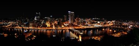 Pittsburgh Nightscape Panorama
