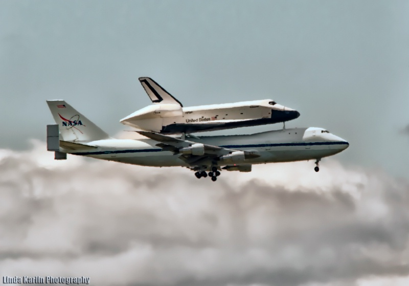 Space Shuttle Enterprise Arriving A JFK