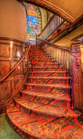 Stairs to the Tiffany Window