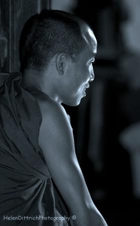 reflective monk