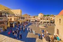 Central square. Rhodos
