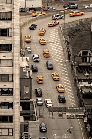 Yellow cabs of New York.