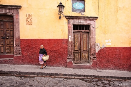 Woman on Street ~ San Miguel Mexico