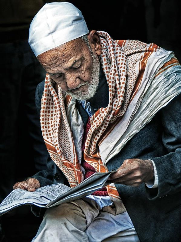 INDIA5597/ Portrait of a muslim man