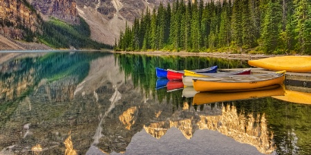 Waiting Canoes