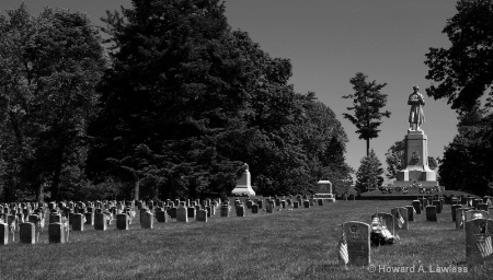 Antietam National Cemetery 002 bw
