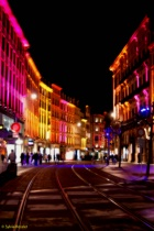 Xmas lighted street Strasbourg