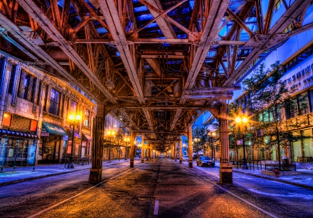 Early Morning  Under the El
