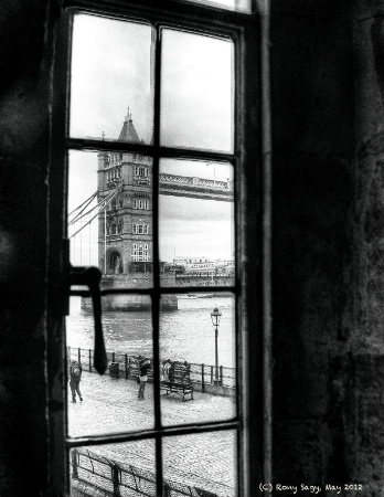 The Tower Bridge From a Tower Window