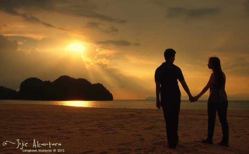 Lovers' sunset