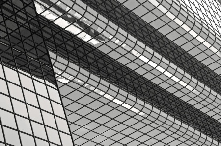 Boston Abstract Building B&W
